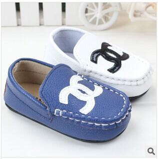 1pcs baby boy's gentlemen leisure shoes 2014 autumn/summer europe blue/white prewalker shoes non-slip infant toddler shoes(China (Mainland))