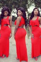 2014 New Women Summer Evening Prom Party Bodycon Bandage 2PCS Ruffles Long Maxi Dresses Casual Sleeveless Sundress