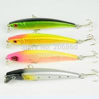 8pcs/lot new Minnow Fishing Lures 9.2CM-8.6G-6# hooks fish minow lure tackle hard bait pesca wobbler isca artificial swimbait