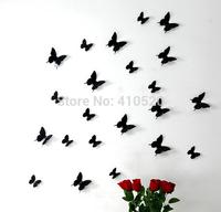 12x 3D Wall Stickers PVC Butterflies DIY Home Decor Art Decal Stickers White Red Black Vivid Art Wall Sticker