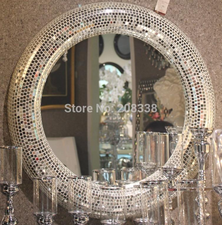 Acheter Salle De Bains Miroir Mosa Que Cercle D Coration Miroir Miroir Mural