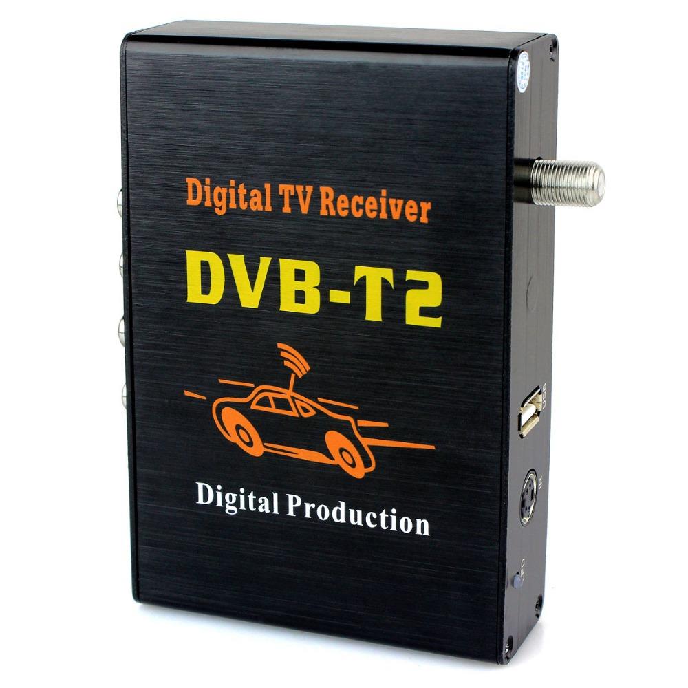 Newest Mobile Digital Car DVB-T2 H.264 MPEG4 HD 1080P External Auto Tuner 100Km/h Digital TV Receiver Box Set Top DVB-T2 D5183A(China (Mainland))