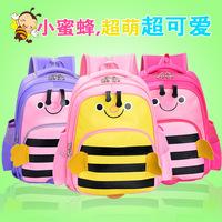 WIth Bee Design Nursery Children Schoolbag Schoolchild Backpack Primary School Book Bag Cartoon Shoulders Burdens Baby Satchel