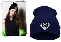 DIAMOND winter wool beanie hat for women 2014 new men warm outdoors skullies hip-hop knitted cap retail BRILLIANT FOLD