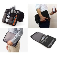Free Shipping Cocoon Grid It Wrap Case Cover Organizer Bag For Digital Device,Black/Red Cover