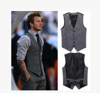 Plus Szie XXXL 2014 new  Men's fashion leisure vest slim fit beckham men vest colete masculino terno men chalecos tailleur veste