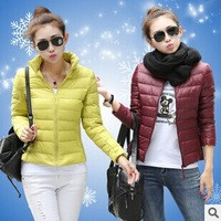 2014 new womens Winter parkas solid color casacos femininos Hooded down Jackets Outdoor Waterproof Keep Warm Lady Outerwear Coat