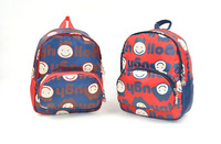 Cartoon children's school bags baby boys girls printting backpack schoolbag  infant mochilas blue red color