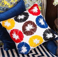 Office Sofa Car decoration Pillow cushions  Handmade cotton hemp Embroidery by pillowcase /WDX672