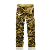 Autumn new arrival 2014 male Camouflage overalls pants belt