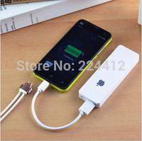 New ultra-thin polymer mini smartphone mobile power charging backup battery portable power bank external battery 8000mah