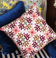 Ethnic embroidery Office sofa Car waist cushion pillow cushion  embroidered pillow cushion /wdx675