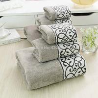 Hot Sale Free Shipping Towel Set 100% Pakistan Terry Cotton Satin Bath Towel Face Towel Hand Towel 3PCS Set