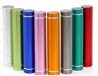 10pcs/lot tube power bank for samsung for iphone 2600mAh portable external battery charger Power pack for iphone DHL free