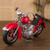 Vintage motorcycle model home decoration birthday gift boys motorcycle canducum H14