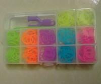 New Fashion Pearl Rubber Loom Bands Refill Set For Kids Diy Bracelets 300 bands + 12 S-clip + 1 hook + 1 Y kit