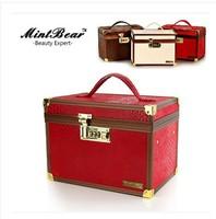 Cosmetic box lucky box high-grade lock color optional luxury palace retro makeup box