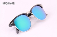 Free shoppingM d metal half box color restoring ancient ways mirror sunglasses sunglasses Dazzle colour brand sunglasses