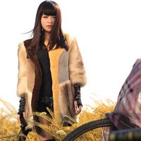 2014 rex rabbit fleece berber fleece female fur coat
