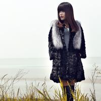 2014 fur women's medium-long fur mink fight mink overcoat fox fur coat mink