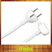 Free Shipping Euro EU Plug 1.8M AC Power Adapter Extension Cable Cord for Apple iPad Macbook Air Pro Charger Adapter