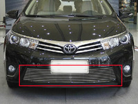 High quality stainless steel Front Grille Around Trim Racing Grills Trim For 2014 Toyota Corolla