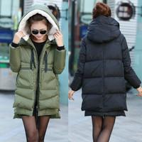 Plus Size 2014 Fashion Winter Coat Women Hooded Down Womens Winter Coat Warm Outerwear Jacket XXS-XXL