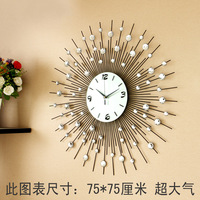 Luxury Large living room wall clock fashion e-quartz personalized modern wall clock fashion clock