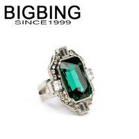 Bigbing jewelry fashion green gem crystal Ladies Ring wedding ring nickel free Free shipping! NA214