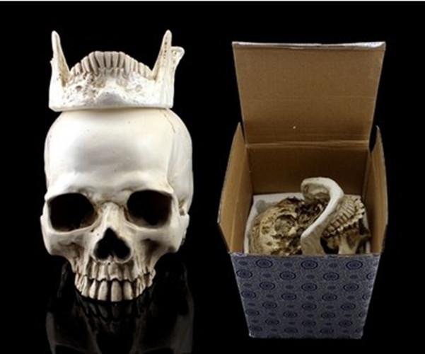 Free shipping! Human Skull Replica Resin Model Medical Realistic NEW 11x7x8.5cm(China (Mainland))