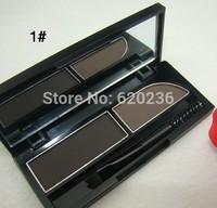 MC Waterproof two-color eye eyebrow shaping 3g eyebrow powder brush Double color molding powder Qiao stereo eyebrow 48pcs/lot
