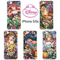 10PCS Princess Snow White Mermaid Ariel Cinderella Alice Ultrathin Clear Case Cover For iphone 5 5S 5G Free Shipping