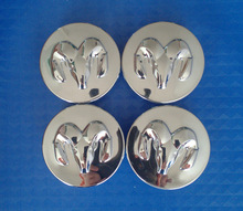 [IN STOCK] Free Shipping 4pcs/SET 54mm Dodge RAM wheel center Hub Wheel center Cap Emblem Chrome(China (Mainland))