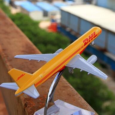 16CM/6.3in DHL 757 passenger plane alloy model by Terebo(China (Mainland))