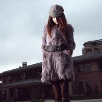 Rabbit fur women's 2011 fur coat
