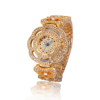 New Arrival Women's Stylish Diamond Dial Luxury Party Bracelet Bangle Dress Wristwatch Golden Silver Select