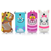 Free shipping New arrival Cute cartoon rubber Monster university Sulley Marie Alice Cat slinky dog for Samsung Galaxy S4 PT1321