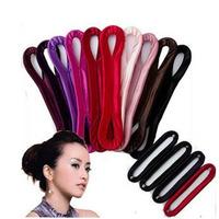 Pf01 hairdressing tool pleated fabric hair stick meatball head cloth head bud hair maker