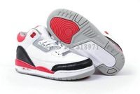 high quality kids retro 3 fire red cement 3s J3 basketball shoes free shipping