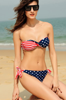5 Set /Lot Top Quality US Flag Star Stripe Bikini Swimsuit Sexy Summer Clothes Bikini Set Swimwear Swimsuit Bathing Suit D40483
