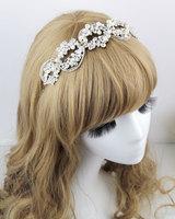 Handmade Crystal Rhinestone Wedding Headband Hairband Hair Jewelry Vintage Bridal Headpiece Headwear Hair Accessories WIGO0324