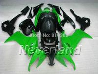 ON SALE!! Motorcycle Fairing kit for KAWASAKI Ninja ZX10R 2008 2009 ZX10R 08 09 TOP Green black ABS Fairings set+7 gifts SK15