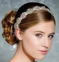 New 2014 Crystal Bridal Headband Rhinestone Headpiece Head Chain Hair Jewelry Wedding Hair Accessories Bridal Headwear WIGO0288