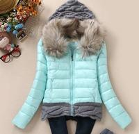 2014 New Fashion Best Selling Korean Women Slim Down Dot Hooded Cotton-padded Jacket Sweet Tide Coat Plus Size YJZ29