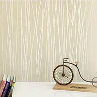 Brief vertical stripe wall paper flock print solid color plain 3d non-woven wallpaper fashion rustic background papel de parede