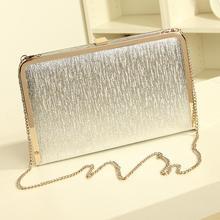 Shimmering Silver Gold Diamante Evening bag Clutch Purse Party Wedding High Quality Women PU Leather Fashion Handbag Hot(China (Mainland))