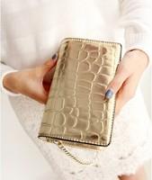 Free shipping 2014 Women Messenger Bag  Vintage gold and silver color stone grain chain bag small sachet Handbag