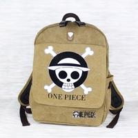 One piece canvas printing children kids women backpack school cartoon travel bag