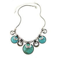 Free Shipping 2014 New Fashion Women Ethnic Vintage Accessories Multicolor Stones Chunky Chains Statement Necklace Jewelry