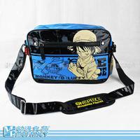 One Piece Monkey.D.Luffy cartoon PU made women messenger bags men's travel school bags
